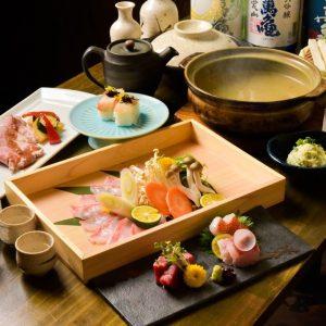 金目鯛と天然真鯛のしゃぶしゃぶと金目鯛の姿煮コース